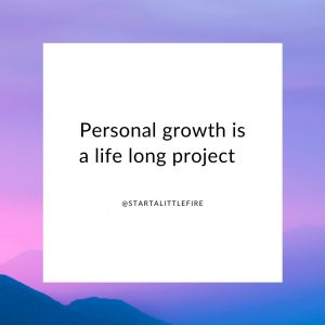 A motivational quote about personal growth
